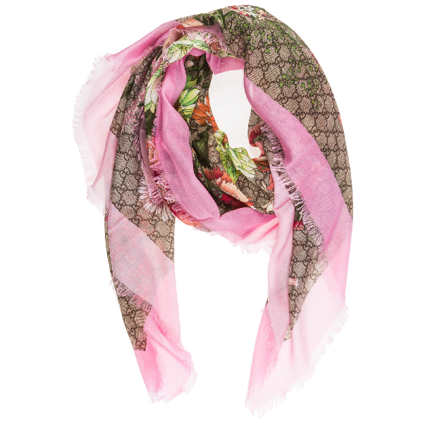 ce8079e058 Women's Shawl Shoulder Wrap Spring Bouquet in Pink