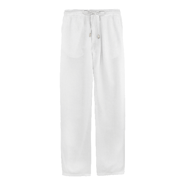 Vilebrequin Pacha Drawstring Linen Pants In White