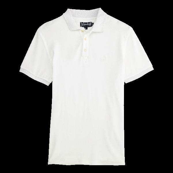 Vilebrequin Logo-Embroidered Cotton-PiquÉ Polo Shirt In White