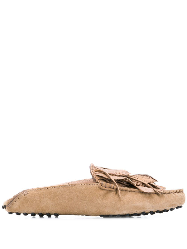 8f1199b4cbe Tod s Flat Loafers In Brown