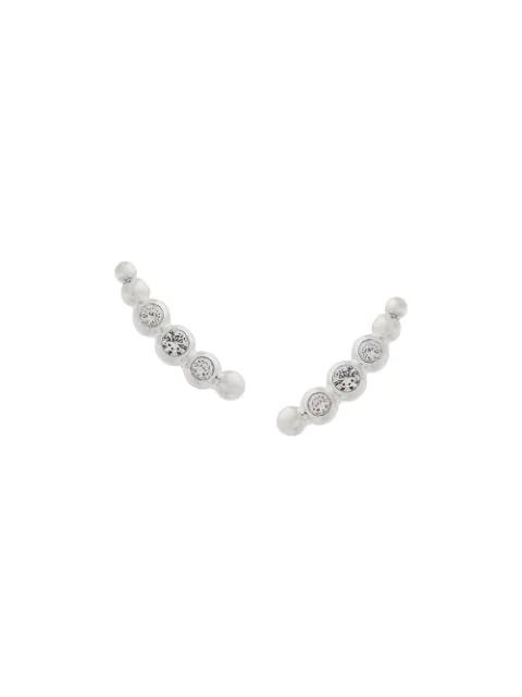 Astley Clarke Sapphire Stilla Arc Ear Crawlers In Silver