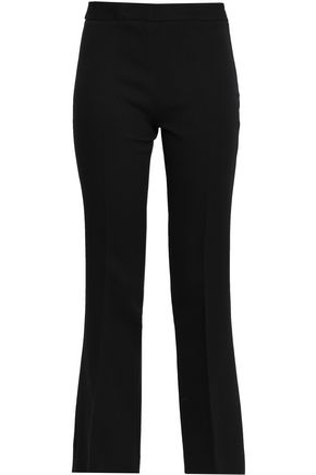 Giambattista Valli Woman Cropped Crepe Bootcut Pants Black