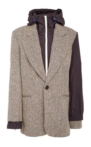 Monse Wool-Blend Double Blazer Jacket In Brown