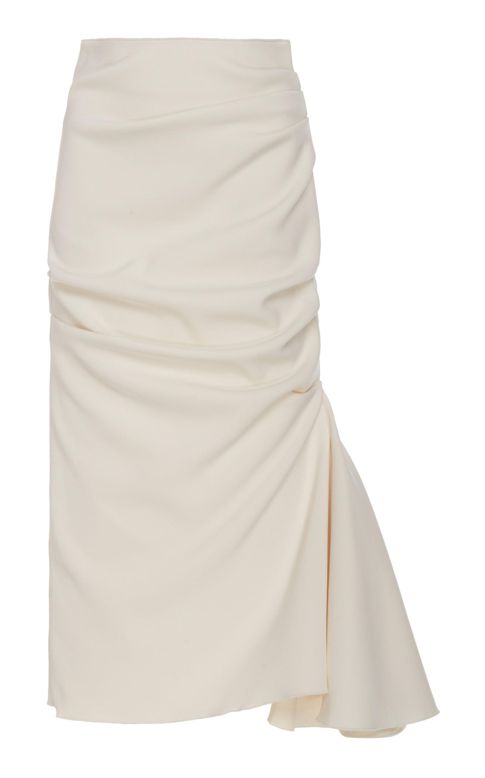 3d6ea9923 Acler Riverside Ruffle-Inset Midi Pencil Skirt In White   ModeSens