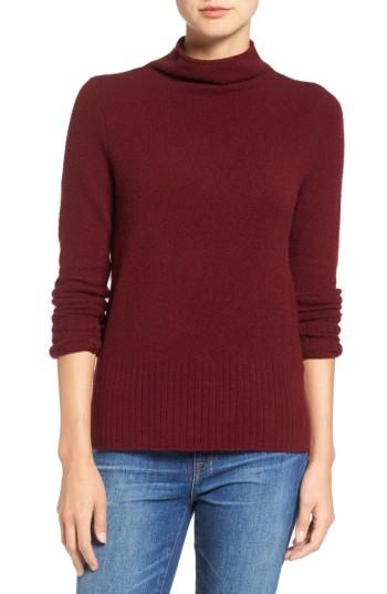 Madewell Inland Rolled Turtleneck Sweater In Heather Cement