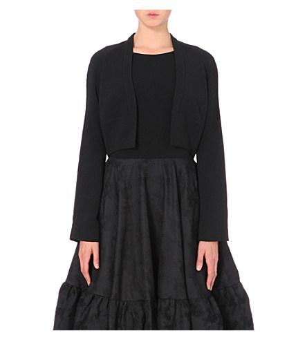 Antonio Berardi Structured Crepe Bolero Jacket In Black