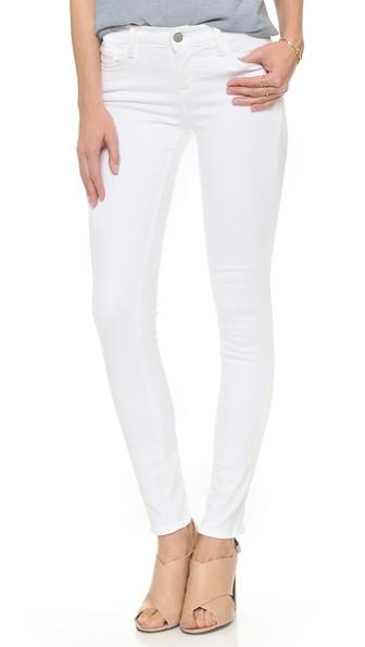 J Brand 811 Mid Rise Skinny Jeans In Blanc