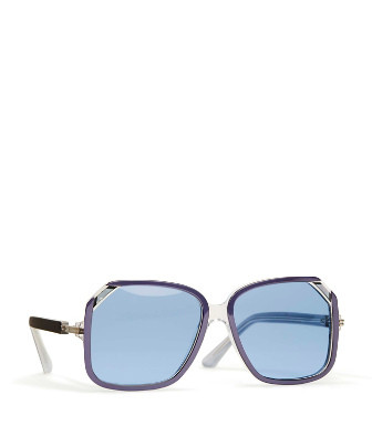 f4a0c2211d7f Tory Burch Oversized Square Sunglasses In Navy Blue | ModeSens