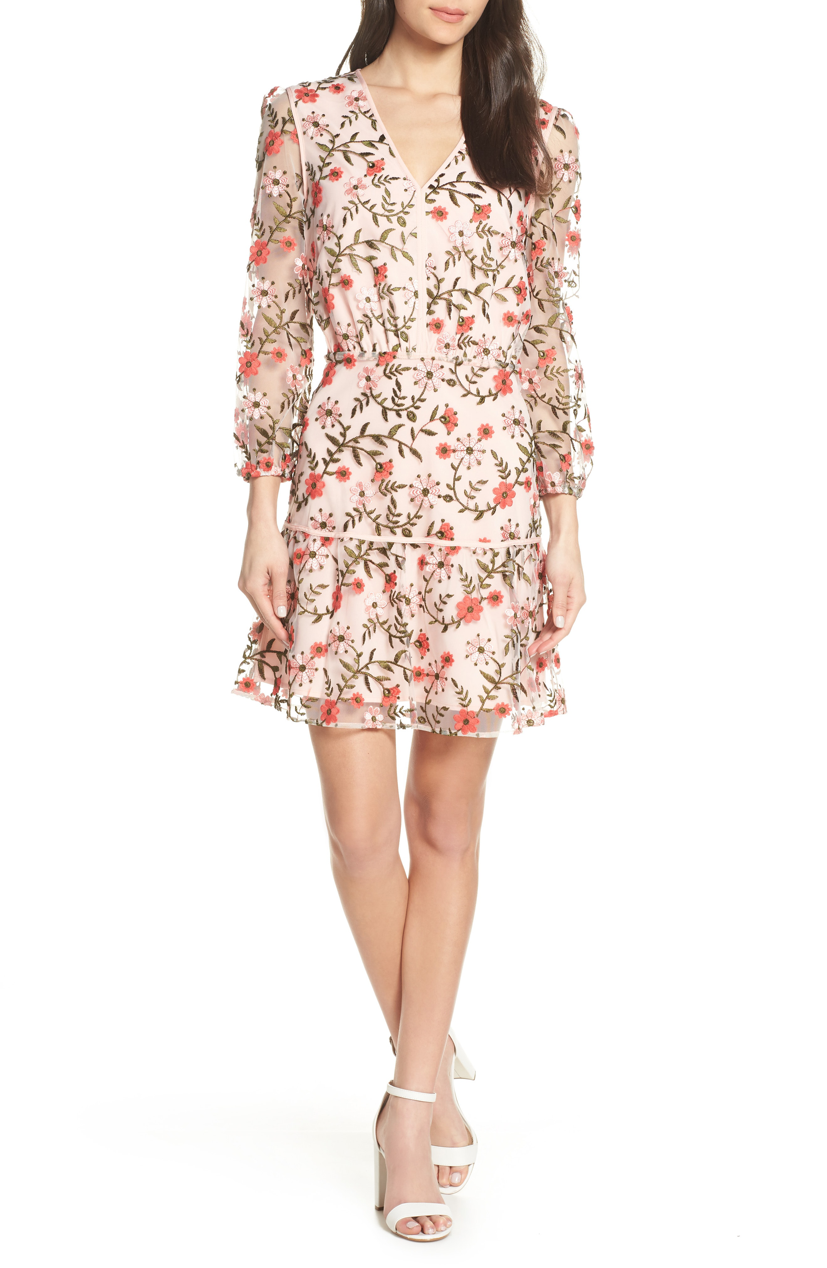 31d574b2d92f Sam Edelman Embroidered Floral Dress In Pink Multi | ModeSens