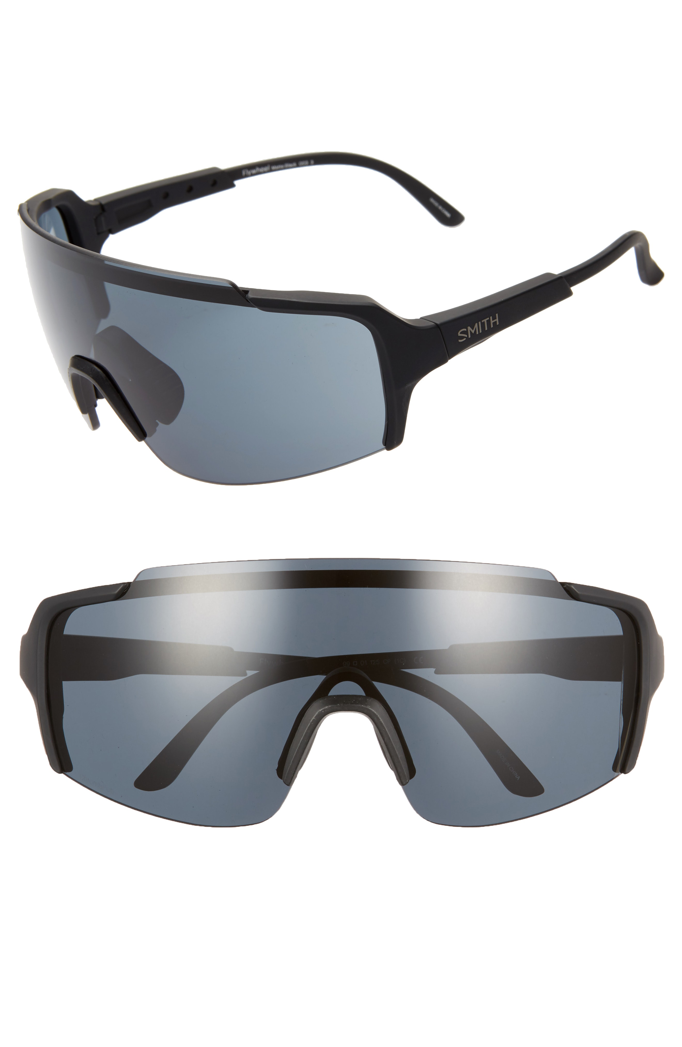 120aebb093db4 Smith Flywheel 160Mm Chromapop(Tm) Polarized Shield Sunglasses - Matte Black   Black