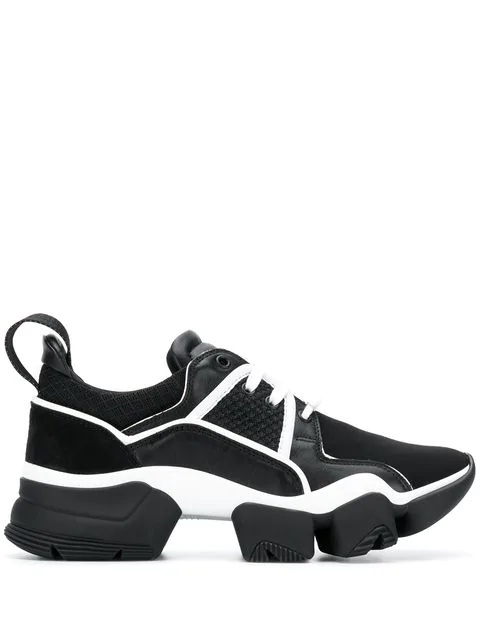 Givenchy Jaw Suede, Nylon & Mesh Sneakers In Black