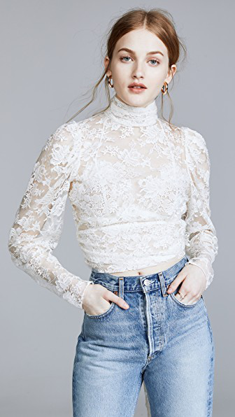 Magda Butrym Noto Blouse In White
