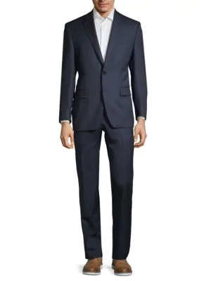 Lauren Ralph Lauren Classic-fit Wool Suit In Bright Navy