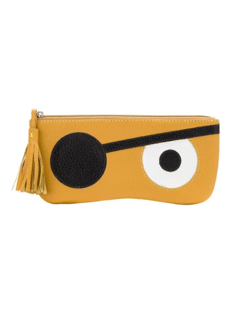 Sarah Chofakian Leather Purse In Yellow