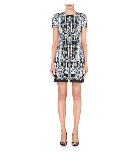 Peter Pilotto Woman Printed Cady Mini Dress Multicolor In Black