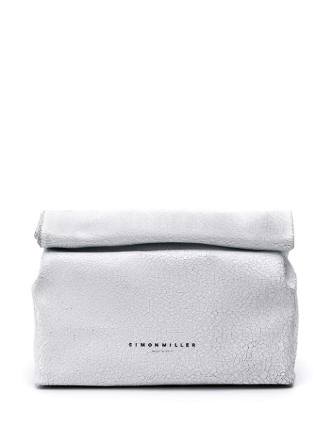Simon Miller Roll Top Clutch Bag In White