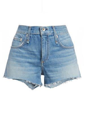 Rag & Bone Cate Cutoff Denim Shorts In Brandon