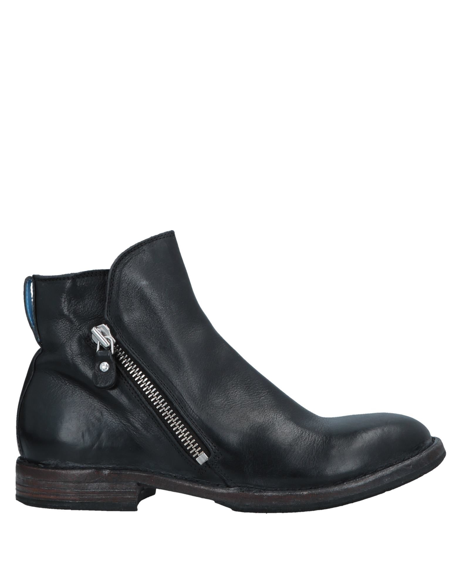 Moma Men's 56802 Black Leather Ankle Boots