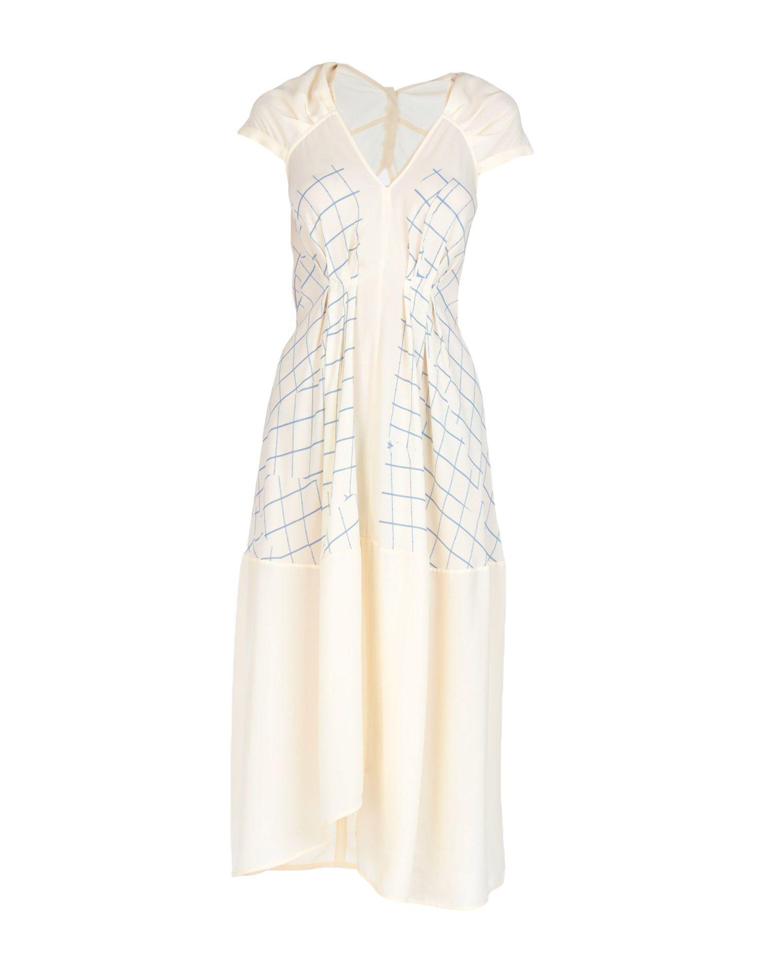 Victoria Beckham Midi Dress In Ivory