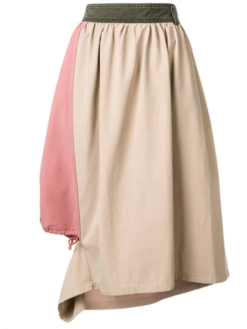 Jw Anderson Asymmetric Skirt In Neutrals