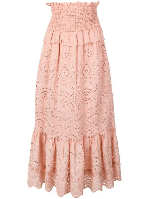 check out 44684 6f12c Sea Gesmokter 'Naomie' Midirock - Rosa in Pink