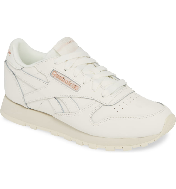 269be1da925 Reebok Classic Leather Sneaker In Chalk  Rose Gold  Paper White ...
