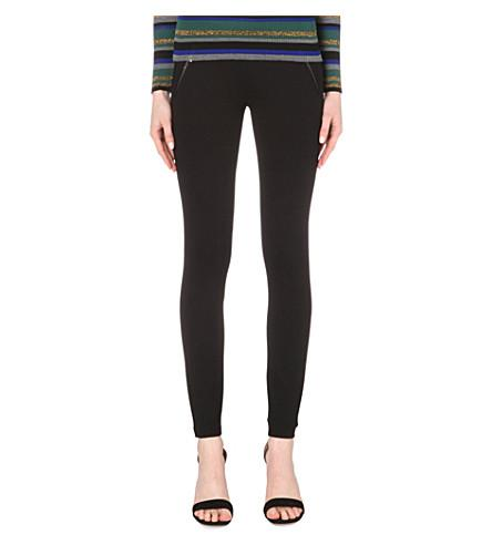 Emilio Pucci Punto Stretch-Jersey Leggings In Black