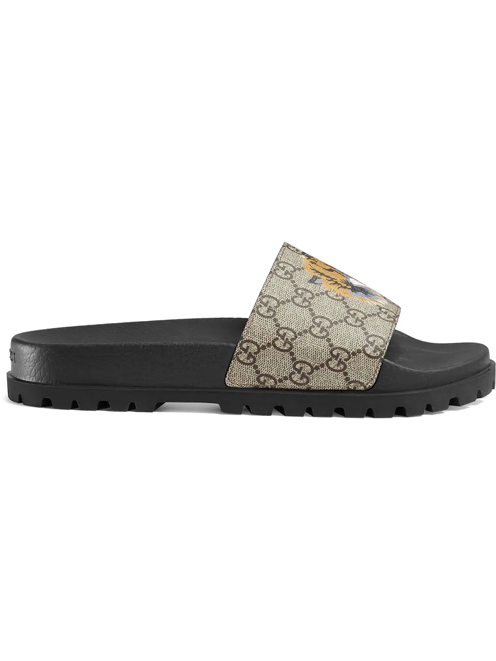 47321a465 Gucci Gg Supreme Tiger Slide Sandal - Farfetch In 8919 Beige | ModeSens