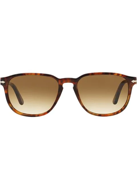 Persol Square Sungasses In Brown
