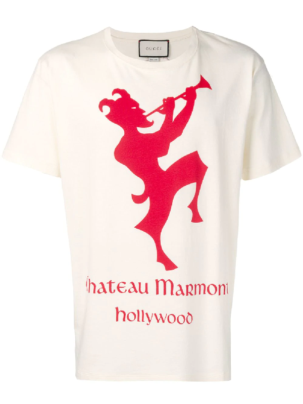 a779ea68 Gucci Men's Chateau Marmont T-Shirt, Red In Neutrals | ModeSens