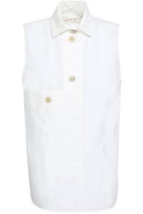 Marni Cotton-poplin Shirt In Ivory