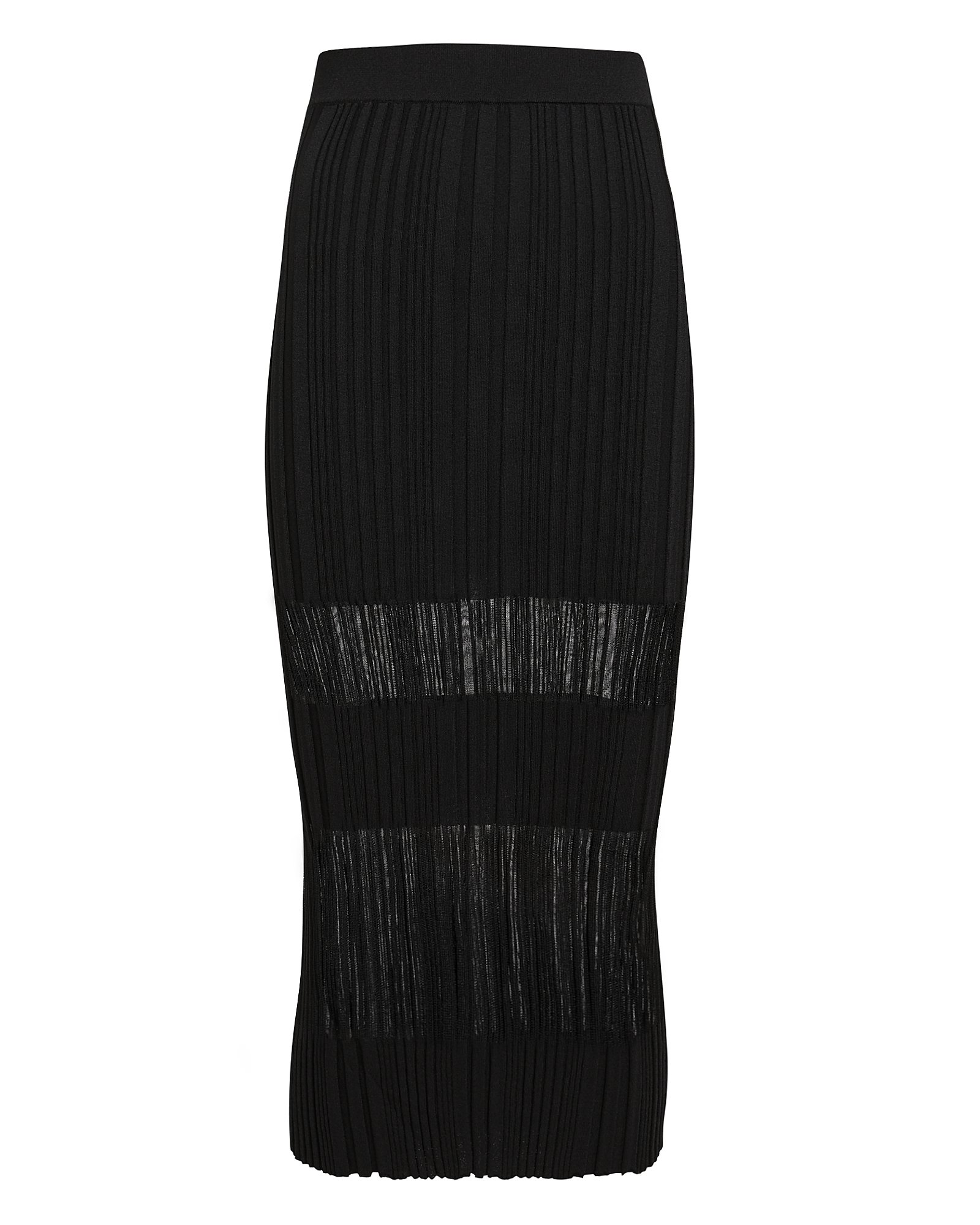 Dion Lee Opacity Pleated Knit Midi Skirt