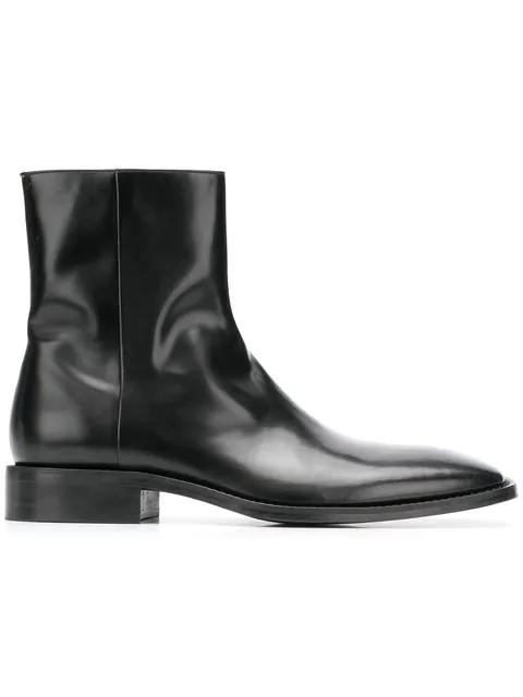 Balenciaga Black Patent Leather Chelsea Boots