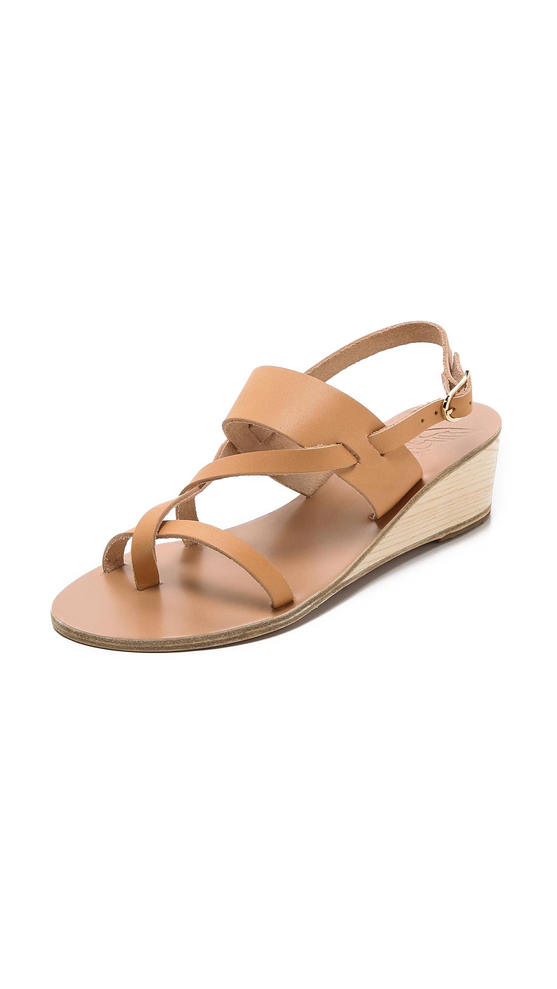 Ancient Greek Sandals Alethea Wedge Sandals In Natural