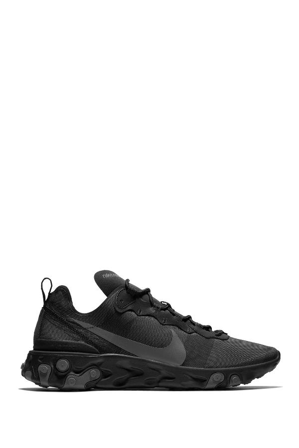 Nike React Element 55 Sneakers In Black/Grey