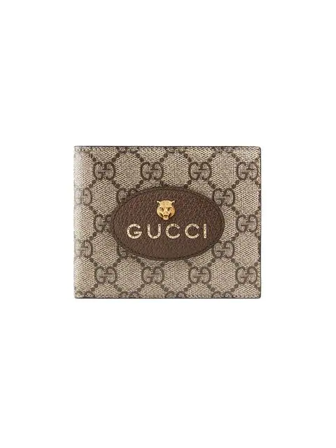 fbc37c144d32a9 Gucci Vintage Gg Supreme Billfold Wallet In Brown | ModeSens