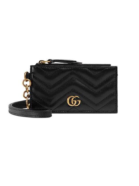 Gucci Marmont Card Case In Black