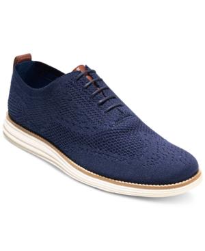 Cole Haan Men's Original Grand Stitchlite Wingtip Oxfords Men's Shoes In Navy/ Ivory