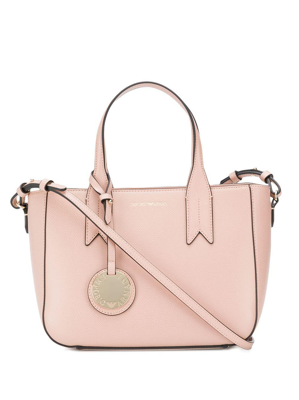 Emporio Armani Pink Leather Shoulder Bag  9f4d7d66bcde3