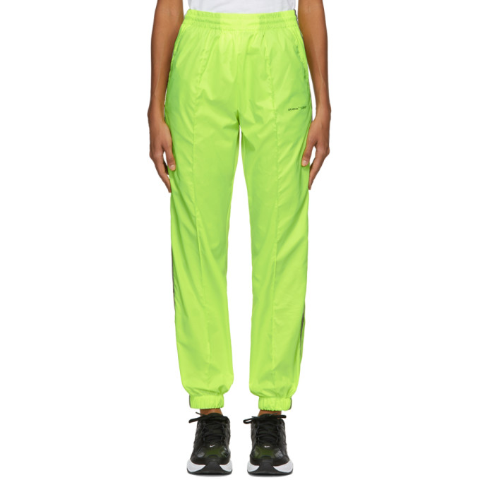 Off-White Yellow Jogging Lounge Pants In Fluo Yellow