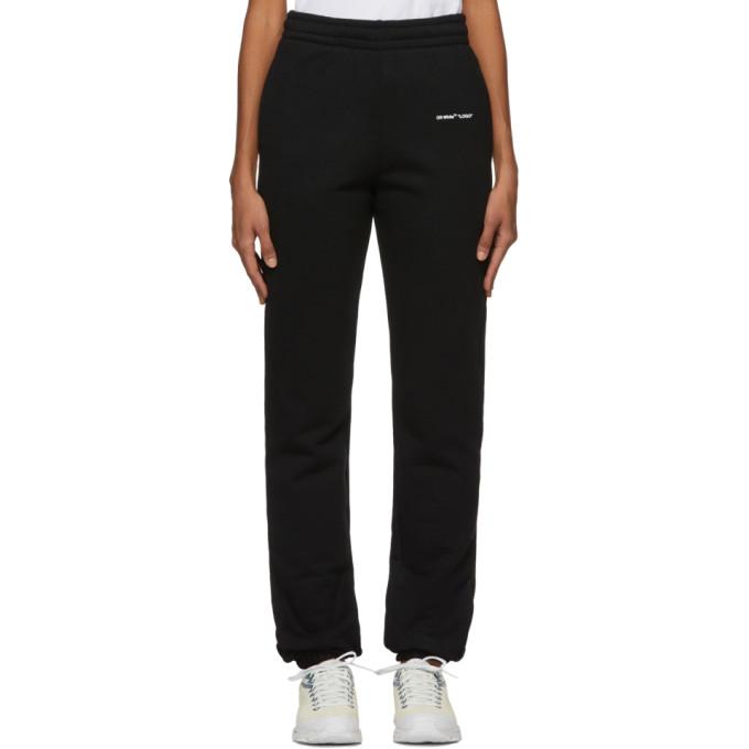 Off-White Black Logo Lounge Pants In Black/White