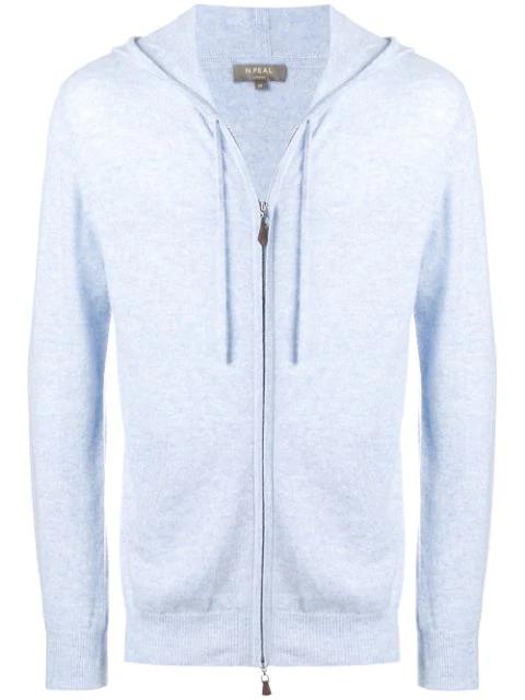 N.peal Hooded Jacket In Blue