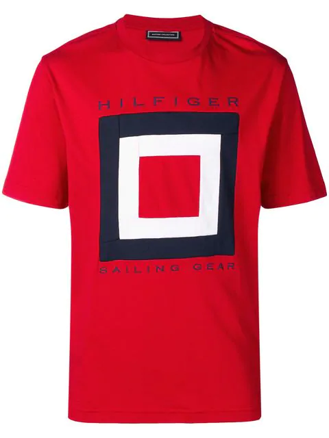 Tommy Hilfiger Logo Printed T In Red