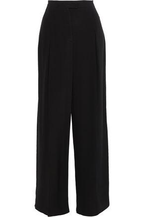 Valentino Woman Silk Wide-Leg Pants Charcoal