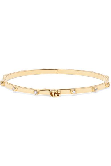 8c8f8893b Gucci 18-Karat Gold Diamond Bracelet | ModeSens