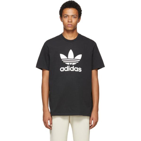 Adidas Originals Trefoil Graphic T-shirt In Black