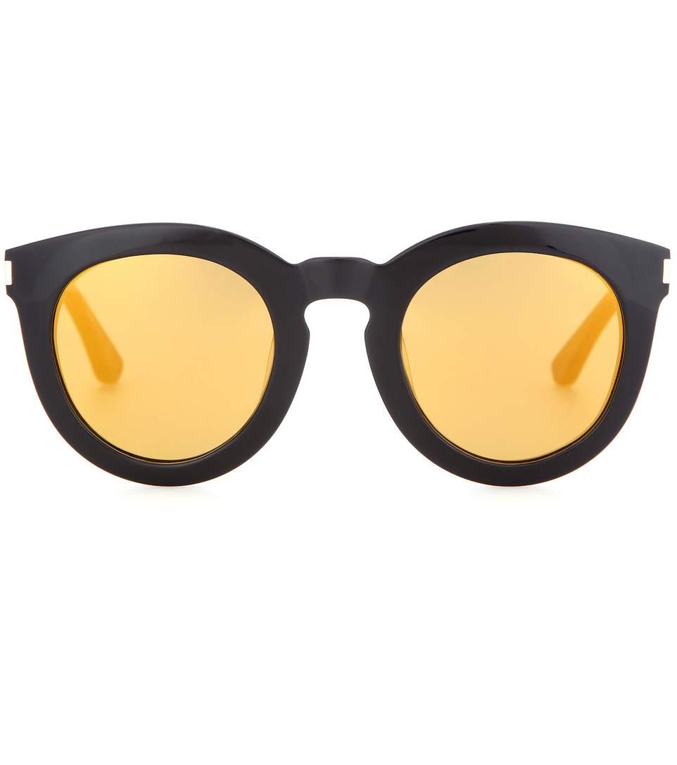 Saint Laurent 'bold Sl 102' Sunglasses In Llack
