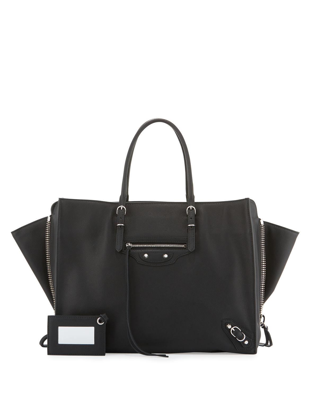 Balenciaga Papier B4 Aj Zip-Around Tote Bag In Noir