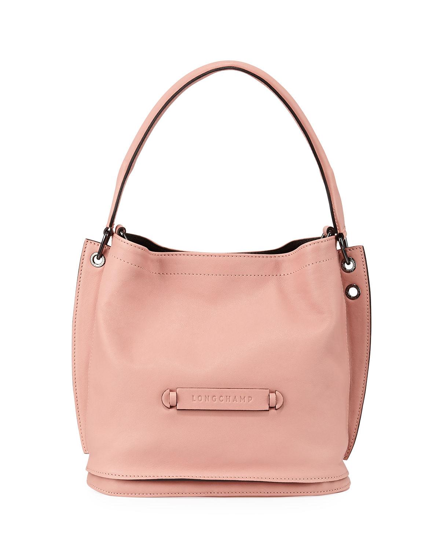02f3c8683c4 Longchamp 3D Leather Crossbody Hobo Bag In Pink   ModeSens