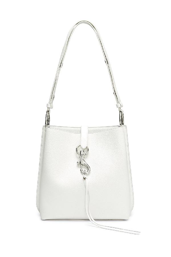 e4849eeb887 Rebecca Minkoff Megan Leather Crossbody Bag - White In Optic White ...